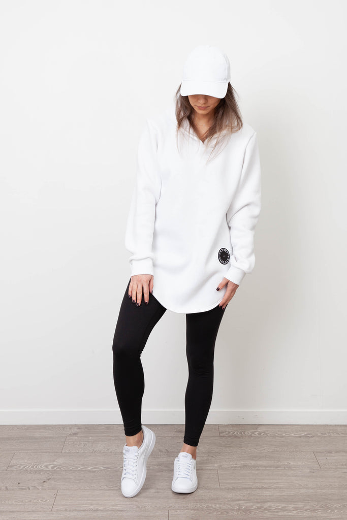 BASIC WHITE HOODY WOMENS