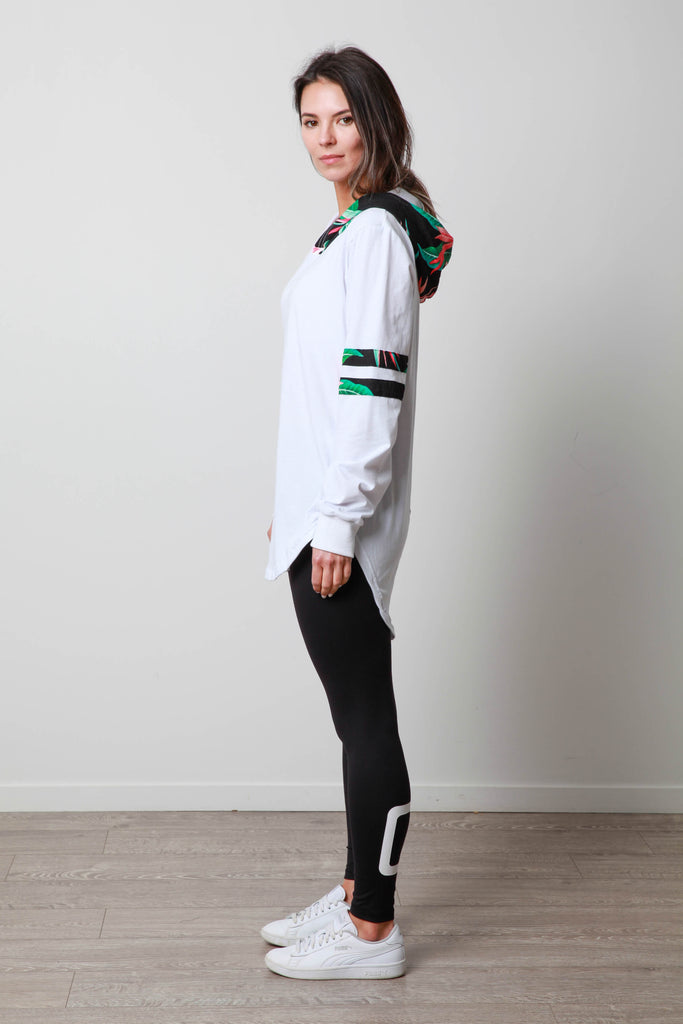TROPICAL BASEBALL LONGSLEEVE TEE