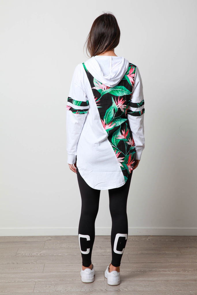 TROPICAL SIDE LONGSLEEVE TEE