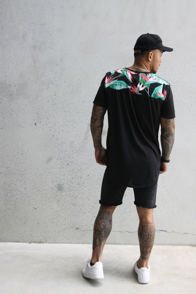 TROPICAL BACK TSHIRT MENS