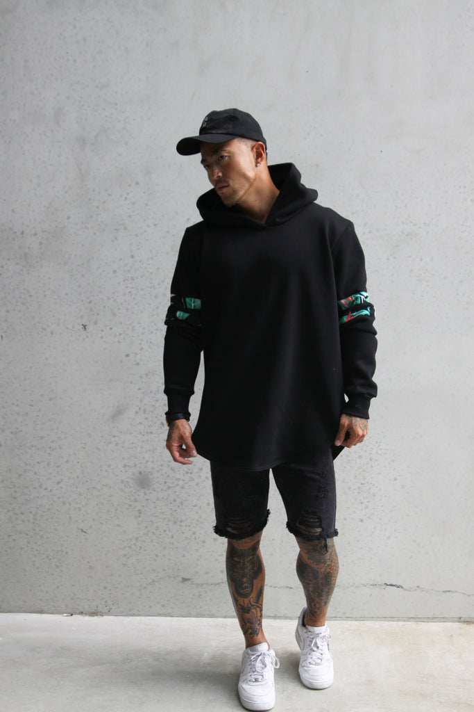 TROPICAL BASEBALL BLACK HOOD MENS