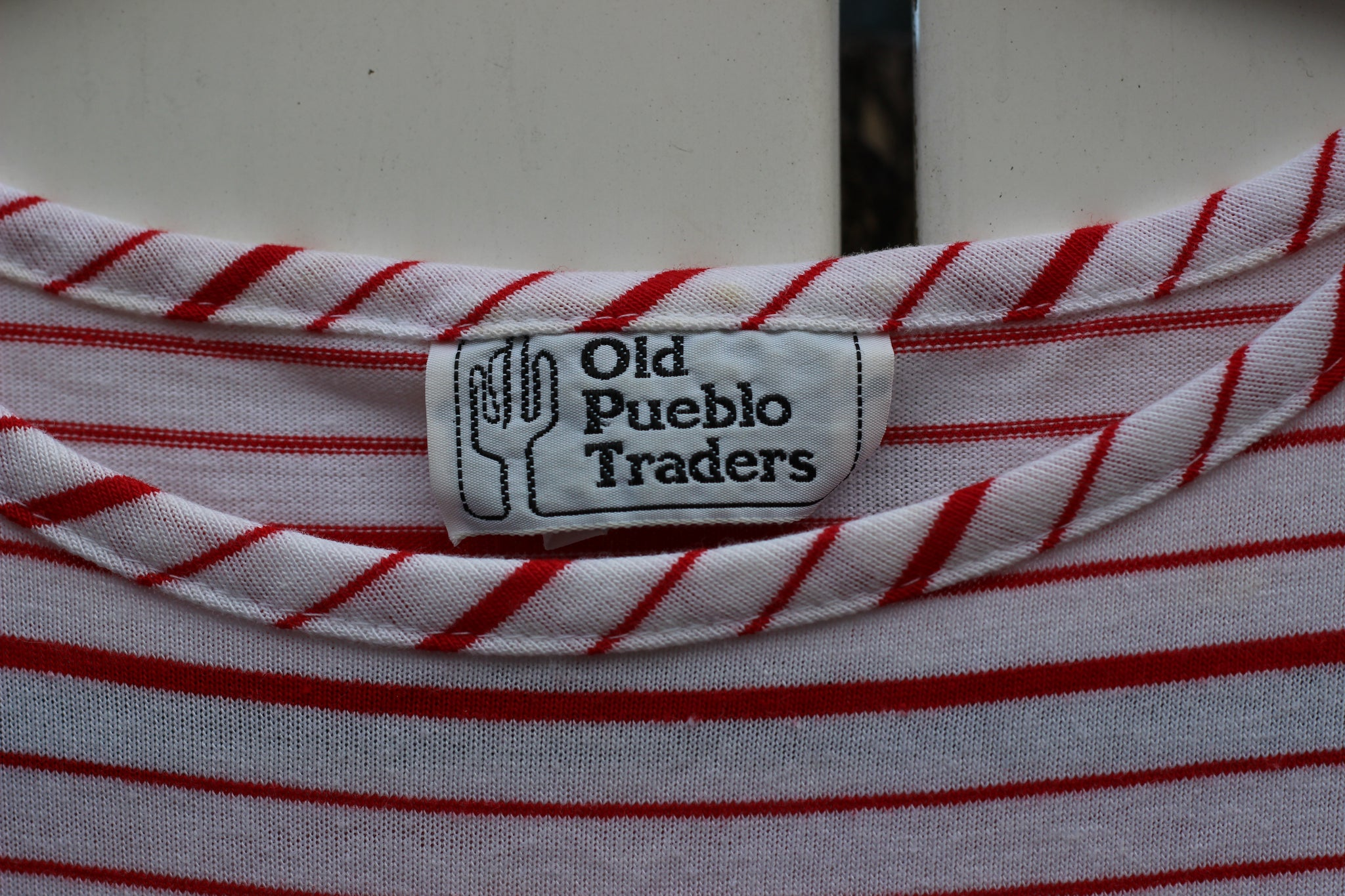Vintage Red & White Stripe Top (M)