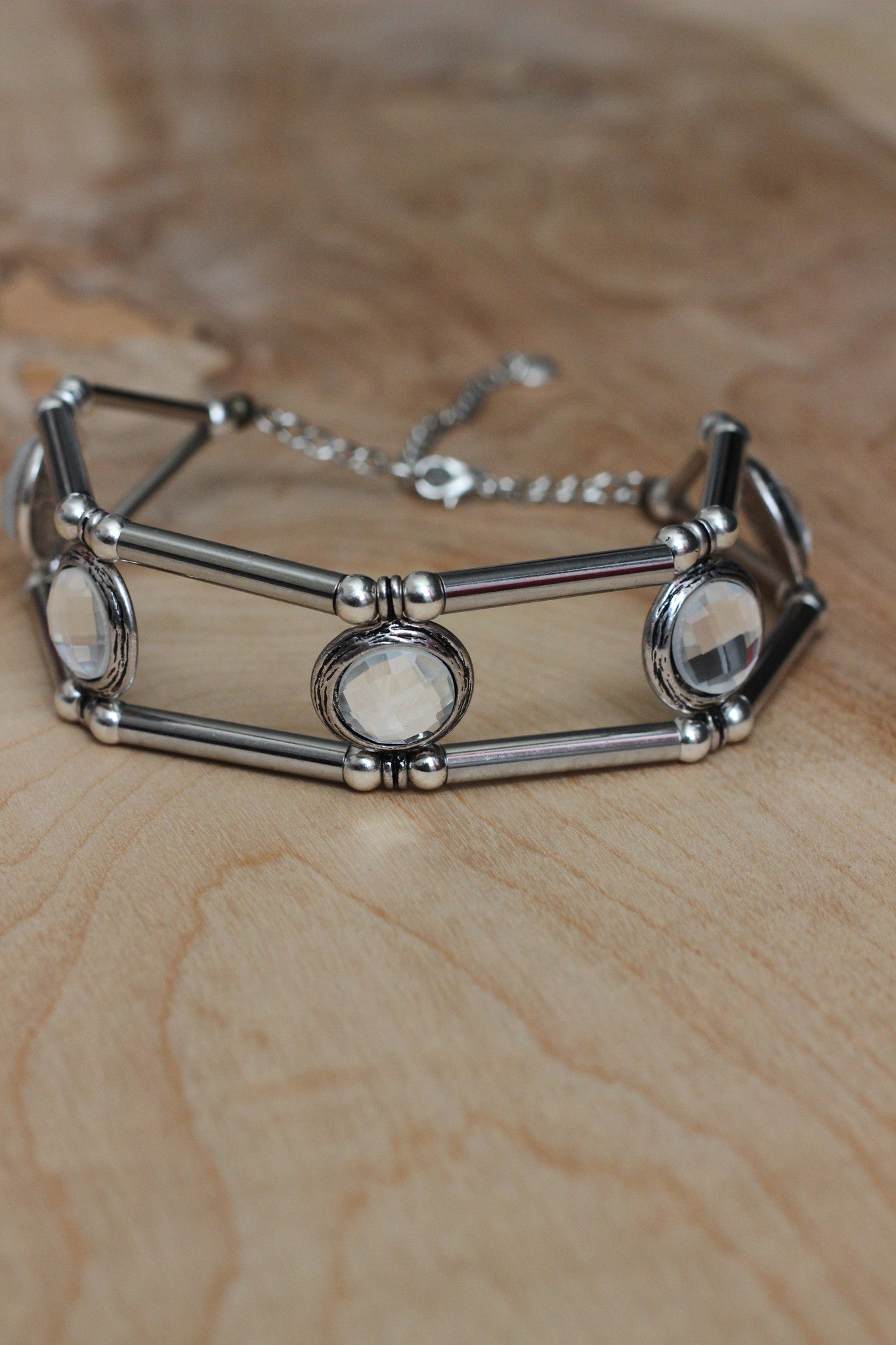 Disco Queen Choker- Silver