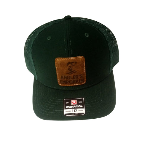 green mesh back fishing hat