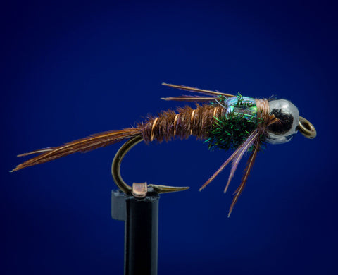 Bead Head Flash Back Pheasant Tail Nymph - One Dozen (12)