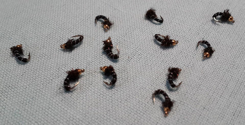 Bead Head Zebra Midge - One Dozen (12)