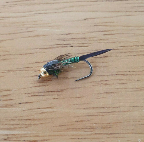 bead head barbless green copper john
