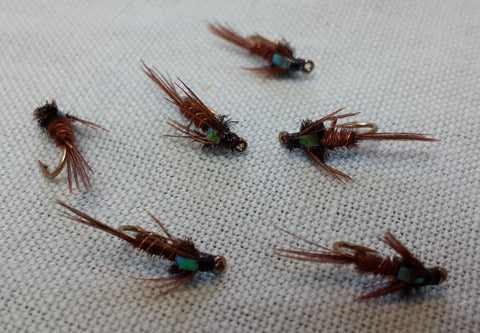 Flashback Pheasant Tail Nymph - One Dozen (12)