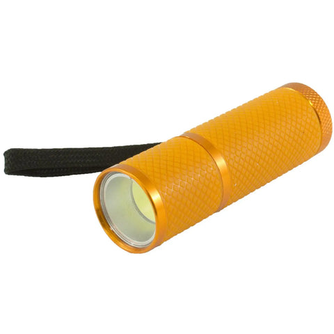 orange glow in the dark led flashlight