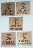 gold angler's emporium stickers