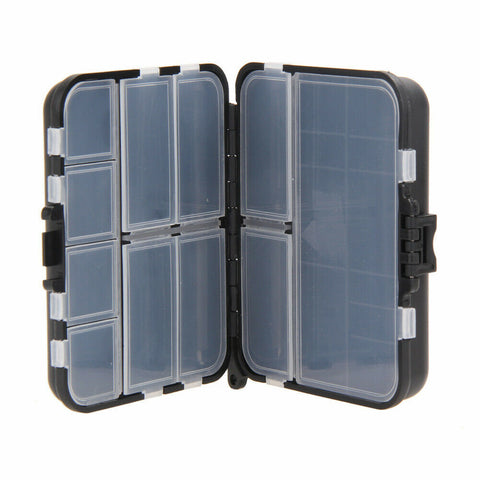 26 Compartment plastic fishing box with lanyard