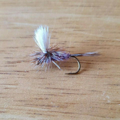 Purple Adam's Parachute Dry Fly - One Dozen (12)
