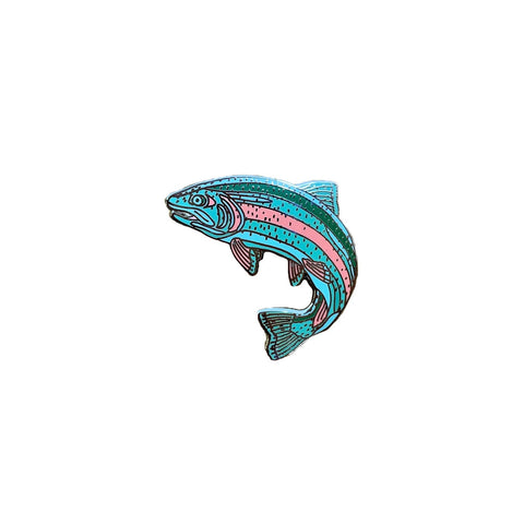 Enamel Rainbow Trout Pin