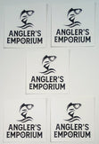 white angler's emporium stickers