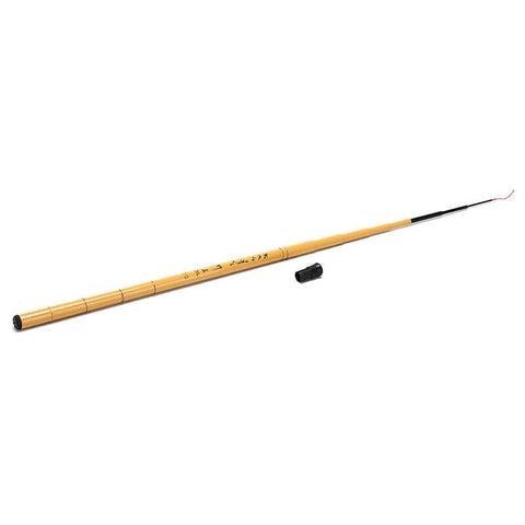 "Fiberglass bamboo finish 5'10"" (1.8 meter) telescopic microfishing rod"