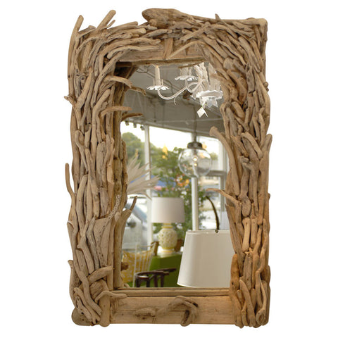Antique Driftwood Mirror