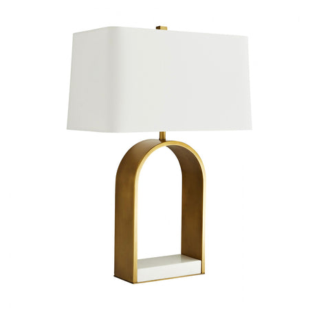 BRASS ARCHED LAMP