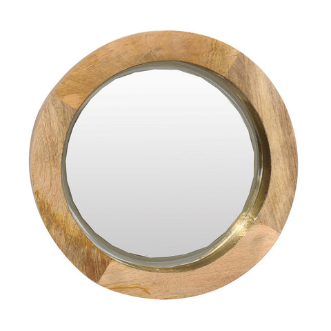 Brass & Mango Wood Mirror