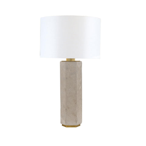 Brass & Cement Lamp