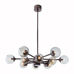 Dark Nickel Flat Burst Chandelier