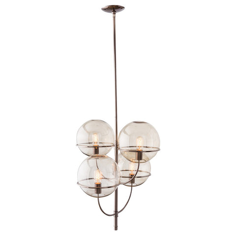 Dark Nickel Globe Chandelier