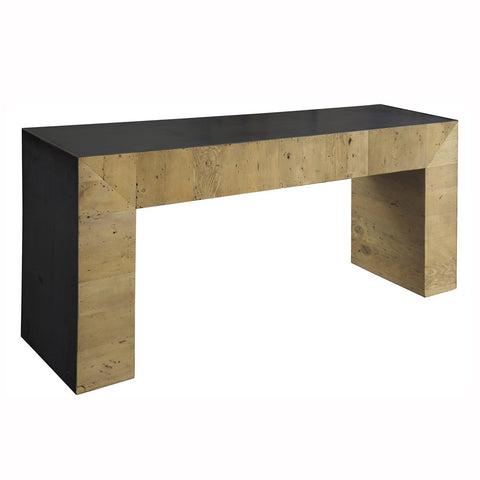 Chunky Console with Black Top