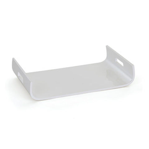 Curved White Lacquered Tray