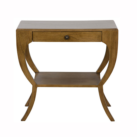 Curved Wooden Side Table