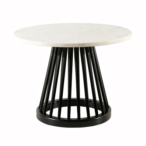 Fan Table With Marble Top