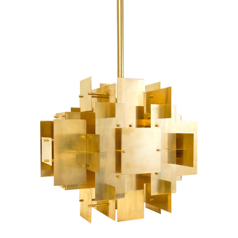 Geometric Brass Chandelier
