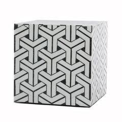 Geometric Stone Inlay Cube