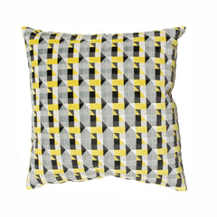 Geometric Yellow Pillow