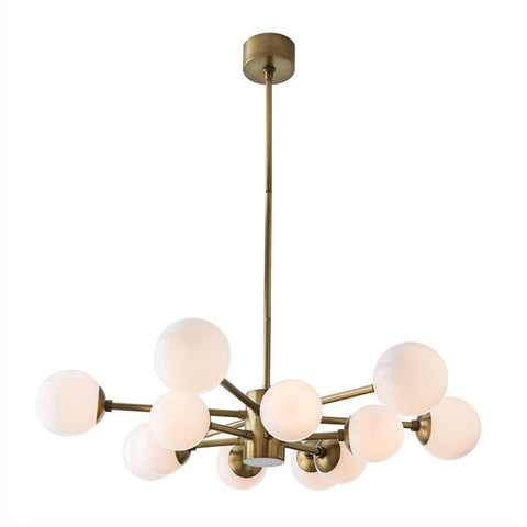 Brass Flat Burst Chandelier
