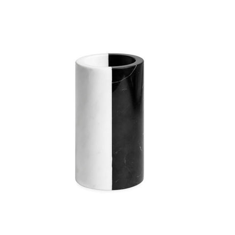 WHITE/BLACK MARBLE TOOTHBRUSH HOLDER