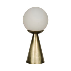 Brass Globe Table Lamp