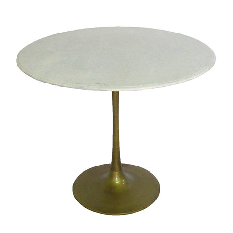 Marble & Brass Tulip Table