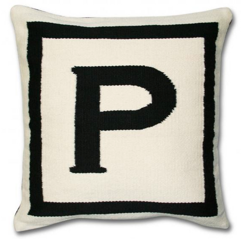 Wool Letter Pillow
