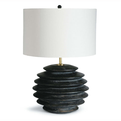 Ribbed Ebony Lamp
