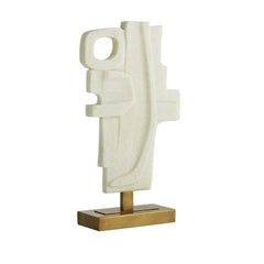 SMALL IVORY & GOLD SCULPTURE