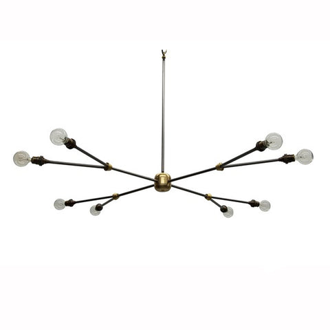 Steel Spike Chandelier