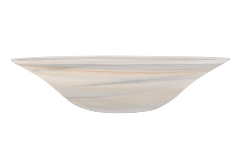 Orange and Grey Large Swirl Bowl