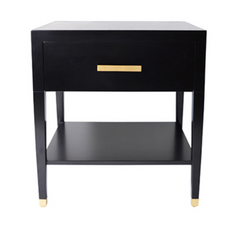 CLEAN BLACK END TABLE