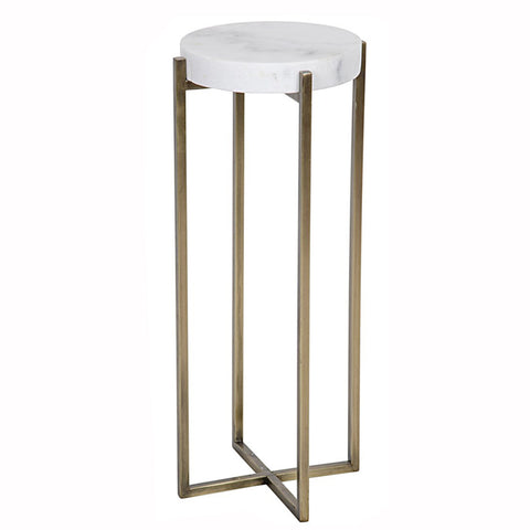 Slender Quartz Side Table