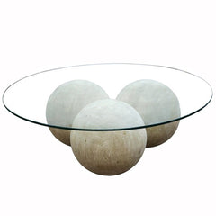 Sphered Base Coffee Table