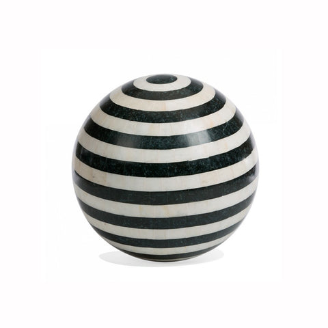 Striped Stone Inlay Sphere