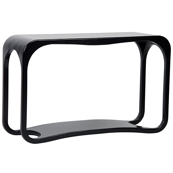 Curved Black Console Pieces