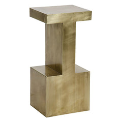 Industrial Brass Side Table