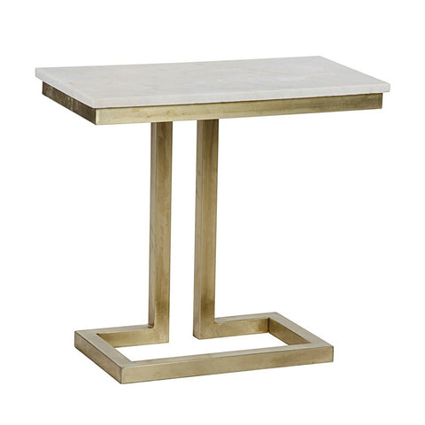 Brass & Quartz Table