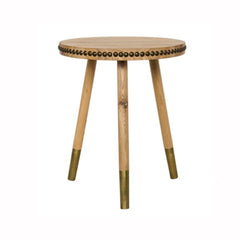 Brass Accent Side Table