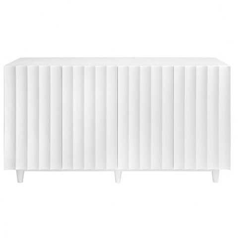 White Scalloped Sideboard